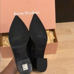 9956367c27b Acne Shoes - Acne Women s Jaycee Lamb Leather Loafer Shoes